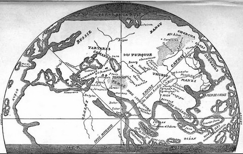 Map of the World according to Marco Polo's ideas