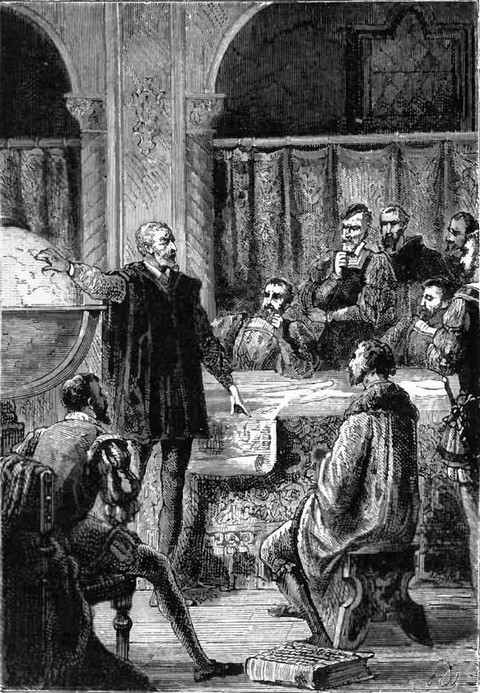 Cabot presides over a Conference of Cosmographers