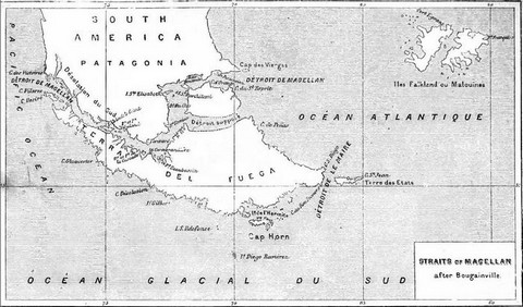 Straits of Magellan, after Bougainville