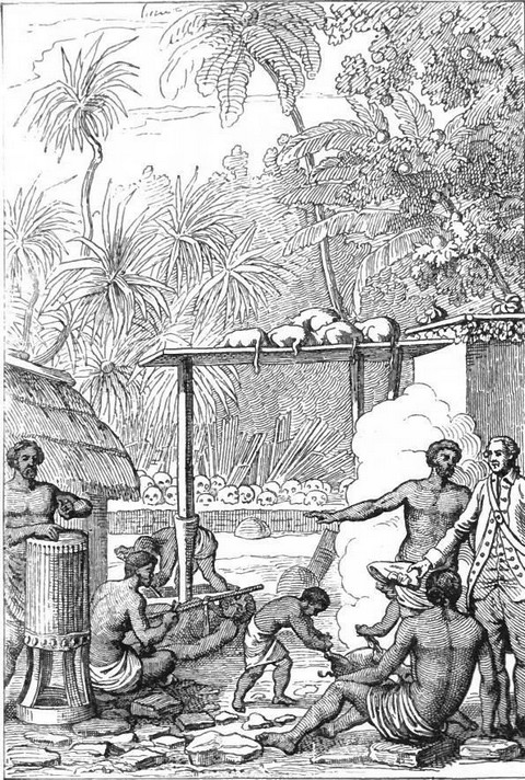Human sacrifice at Tahiti