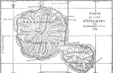 Captain Cook's chart of Otaheite