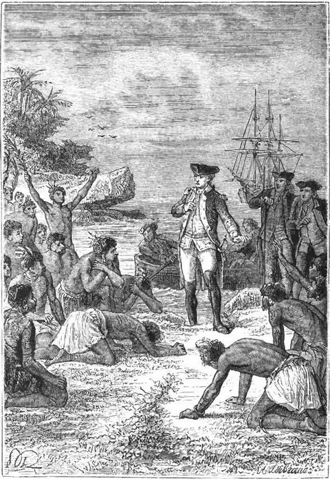 Cook's reception by the natives