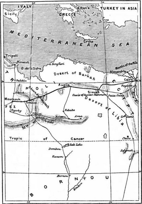 Map of part of North Africa