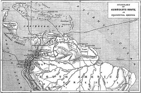Itinerary of Humboldt's route in equinoctial America