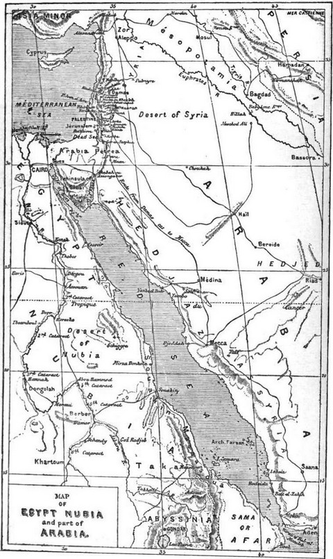 Map of Egypt, Nubia, and part of Arabia