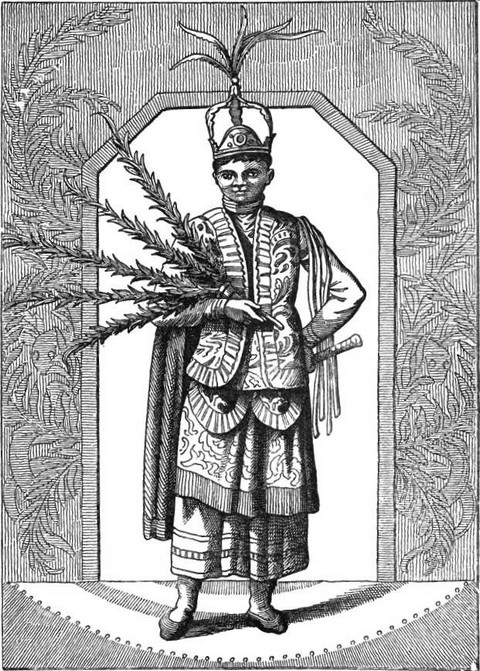 A performer of the dances of Montezuma