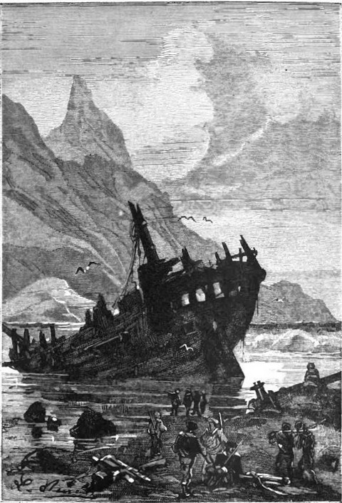 The wreck of the Uranie