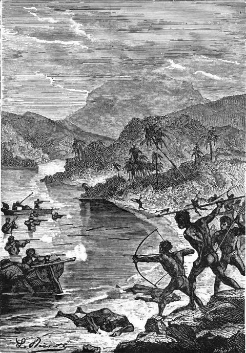 Attack from the natives of Tonga Tabou