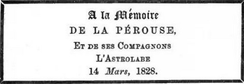 To the memory of La Pérouse